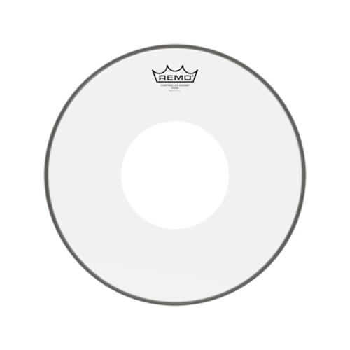 """Remo 13"""" Controlled Sound Clear Drumhead w/Top White Dot"""