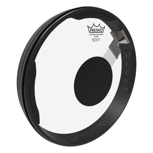 """Remo 13"""" x 1.5"""" Drumhead Rhythm Lid Snare Kit Controlled Sound Clear Black Dot On Top"""