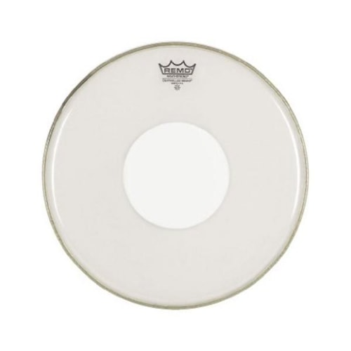 """Remo 14"""" Controlled Sound Clear Drumhead w/Top White Dot"""