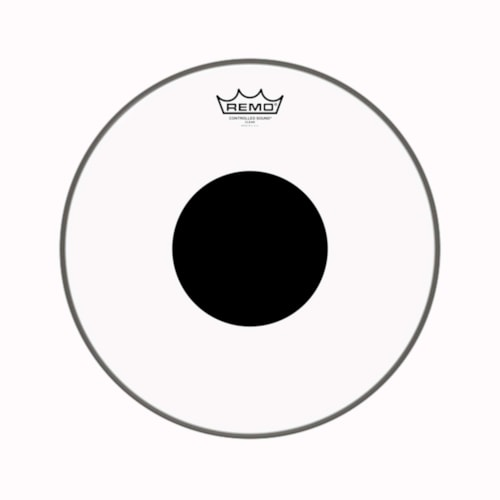"""Remo 14"""" Controlled Sound Clear Drumhead w/Top Black Dot"""