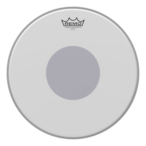 """Remo 14"""" Controlled Sound X Coated Snare Drumhead w/Bottom Black Dot"""