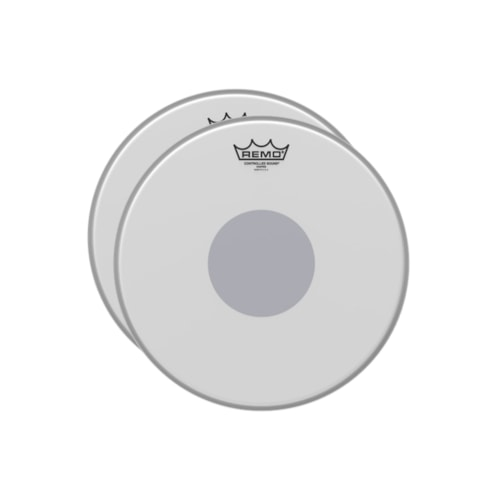"""Remo 14"""" Controlled Sound X Coated Black Dot Snare Drumhead Bottom Black Dot (2 Pack Bundle)"""