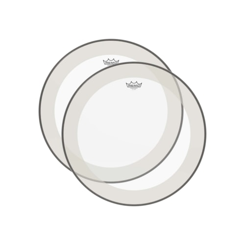 """Remo 14"""" Powerstroke P4 Clear Drumhead (2 Pack Bundle)"""