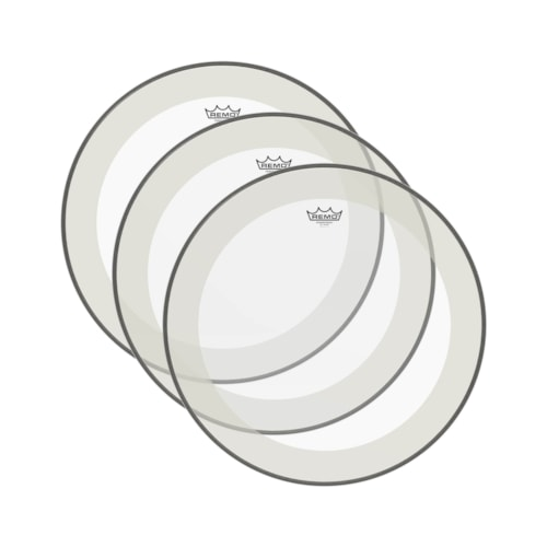"""Remo 14"""" Powerstroke P4 Clear Drumhead (3 Pack Bundle)"""