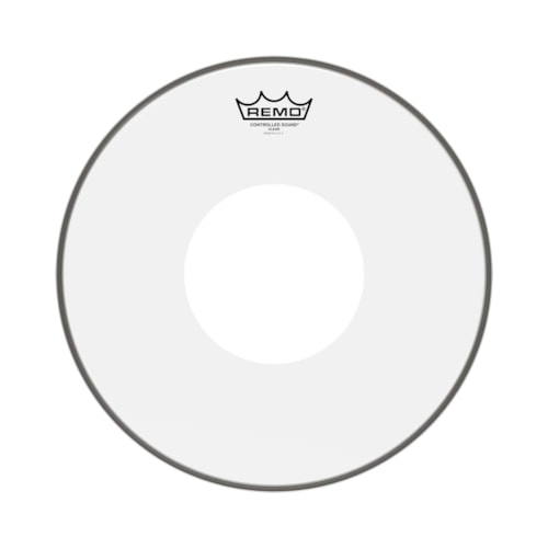 """Remo 15"""" Controlled Sound Clear Drumhead w/Top White Dot"""