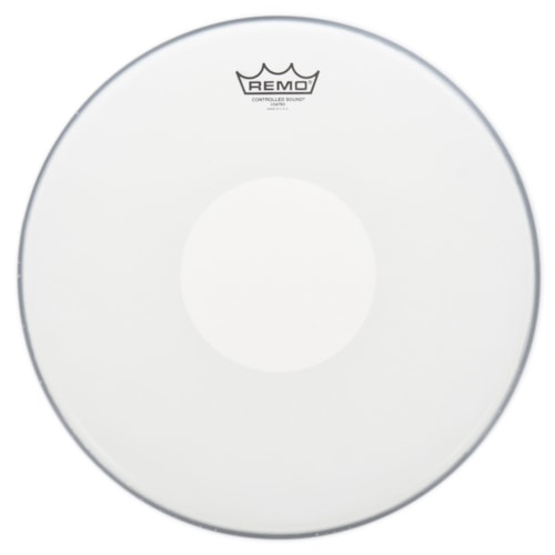 """Remo 15"""" Controlled Sound Coated Drumhead w/Bottom White Dot"""