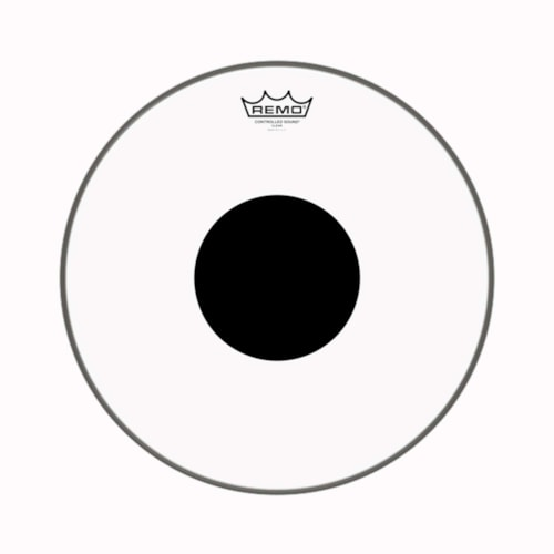 """Remo 15"""" Controlled Sound Clear Drumhead w/Top Black Dot"""
