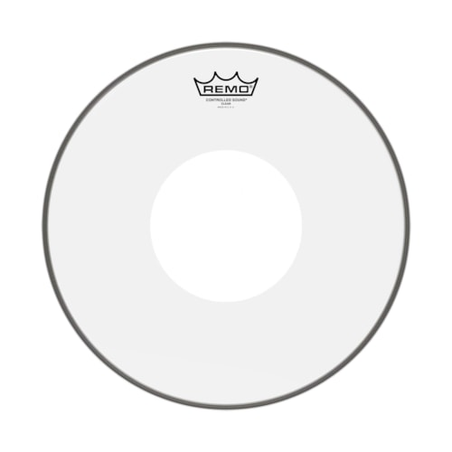 """Remo 16"""" Controlled Sound Clear Drumhead w/Top White Dot"""