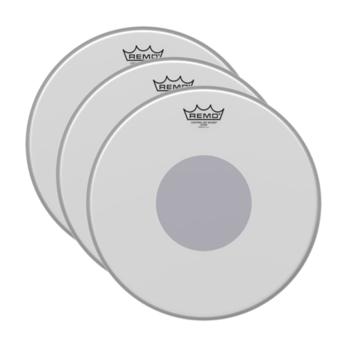 """Remo 16"""" Controlled Sound Coated Drumhead w/Bottom Black Dot (3 Pack Bundle)"""