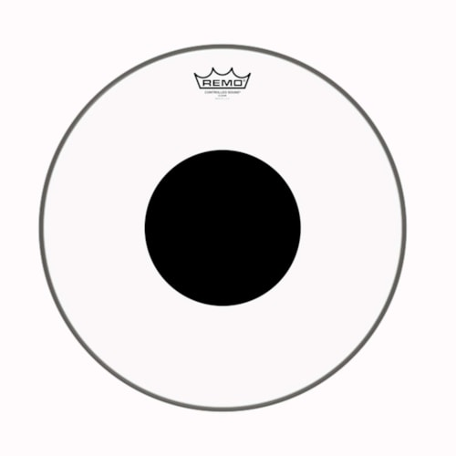 """Remo 16"""" Controlled Sound Clear Drumhead w/Top Black Dot"""