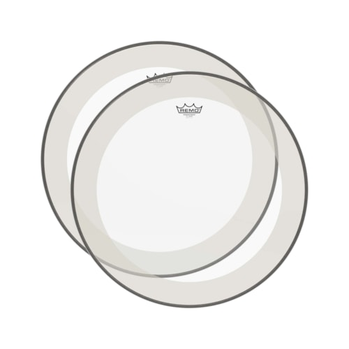 """Remo 16"""" Powerstroke P4 Clear Drumhead (2 Pack Bundle)"""