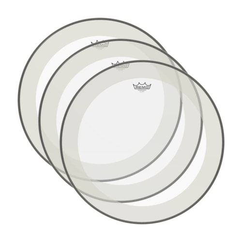 """Remo 16"""" Powerstroke P4 Clear Drumhead (3 Pack Bundle)"""