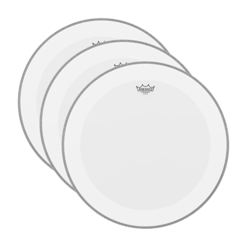 """Remo 16"""" Powerstroke P4 Coated Bass Drumhead (3 Pack Bundle)"""