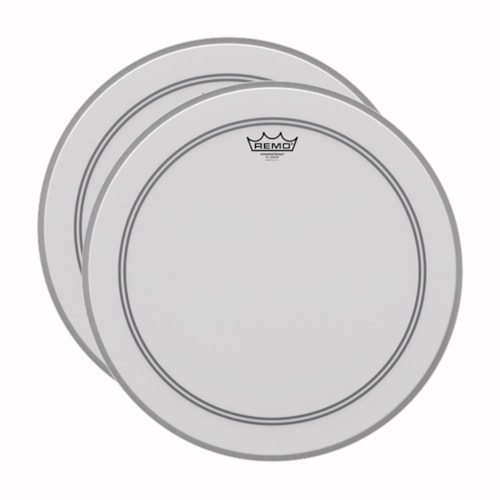 """Remo 18"""" Powerstroke P3 Coated Bass Drumhead (2 Pack Bundle)"""