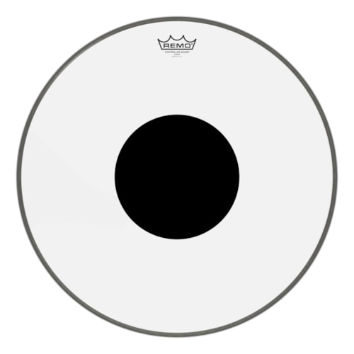 """Remo 20"""" Controlled Sound Clear Bass Drumhead w/Top Black Dot"""