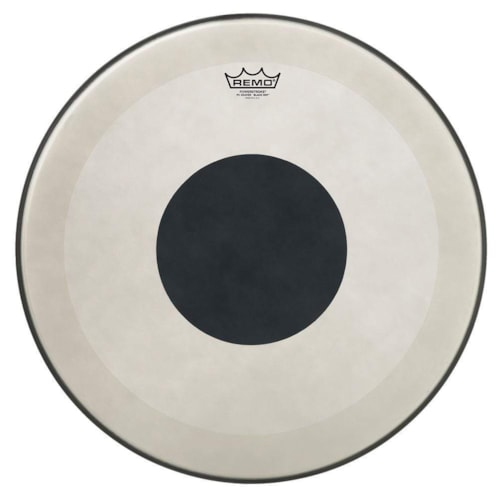 """Remo 20"""" Powerstroke P3 Coated Bass Drumhead w/Bottom Black Dot"""