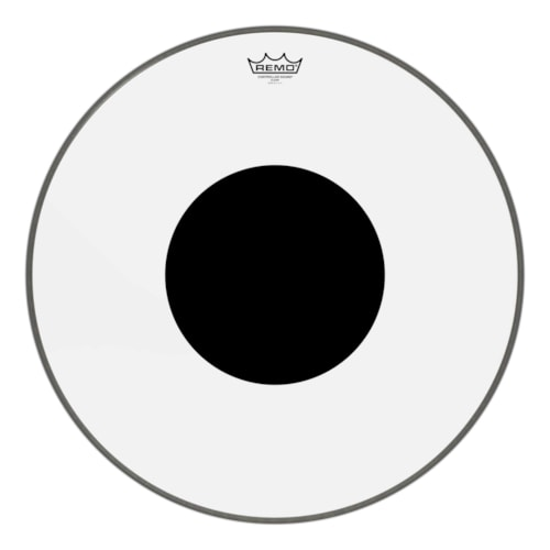 """Remo 22"""" Controlled Sound Clear Bass Drumhead w/Top Black Dot"""