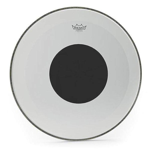 """Remo 22"""" Powerstroke P3 Coated Bass Drumhead w/Bottom Black Dot"""