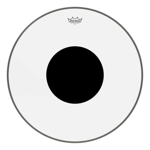 """Remo 24"""" Controlled Sound Clear Bass Drumhead w/Top Black Dot"""