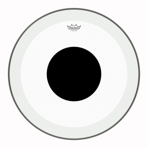"""Remo 24"""" Powerstroke P3 Clear Bass Drumhead w/Top Black Dot"""