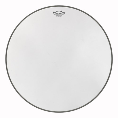 """Remo 24"""" Powerstroke P3 White Suede Bass Drumhead"""