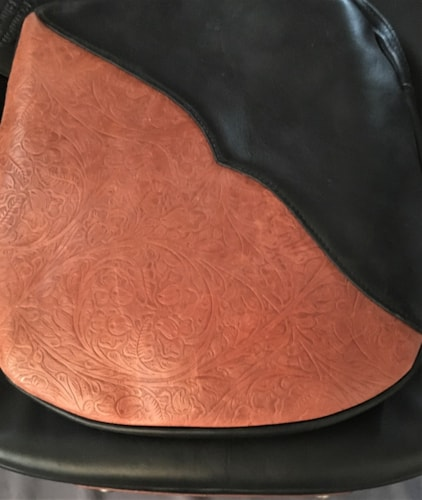 """Reunion Blues Cool leather """"Cowboy or Cowgirl"""" Deeluxe """"tooled"""" Black & Natural"""