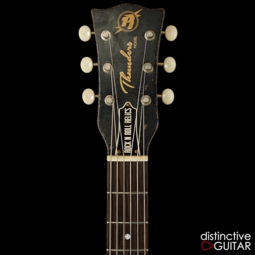 Rock n Roll Relics Thunders II Double Cutaway Vintage White Over Burst