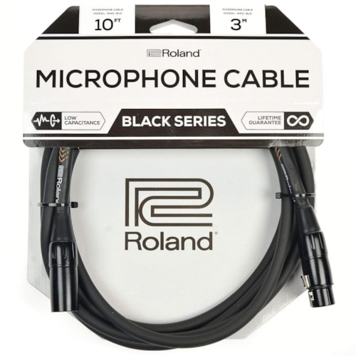 Roland Black Series 10ft XLR Microphone Cable