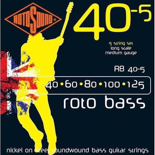 Rotosound RB40-5 Roto 5-String Bass Strings (40-125)