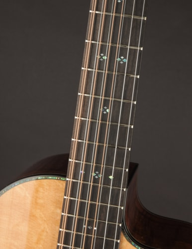 Ryan Abbey Grand Parlor 10-String Walnut & Bearclaw Sitka Natural/Blonde