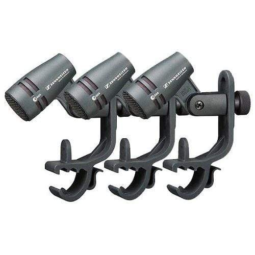 Sennheiser e 604 Cardioid Dynamic Microphone w/Stand Mount for Drum Rims (3-Pack)