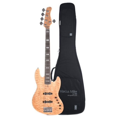 Sire Marcus Miller V9 Swamp Ash/Quilted Maple 5-String Natural (2nd Gen) and Sire Gig Bag Bundle