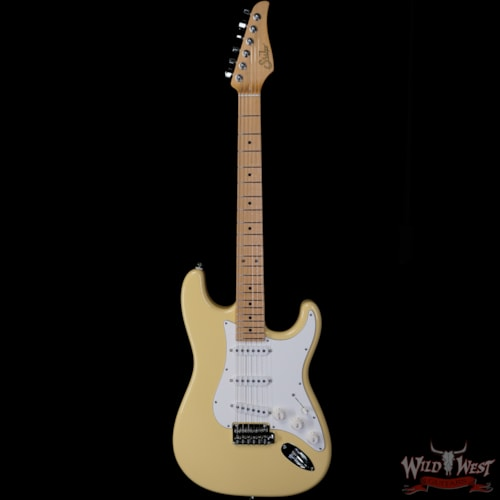 2020 Suhr Classic S SSS Maple Neck Vintage Yellow
