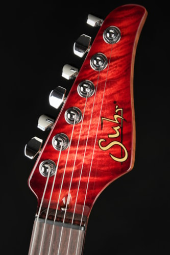 Suhr Eddie's Guitars Exclusive Roasted Modern - Faded Trans Wine Red Burst