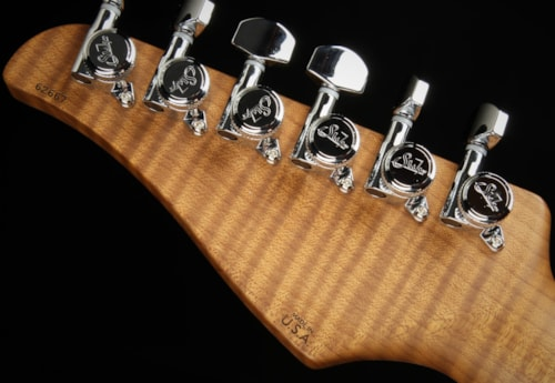 Suhr Eddie's Guitars Exclusive Roasted Modern - Faded Trans Whale Blue Burst