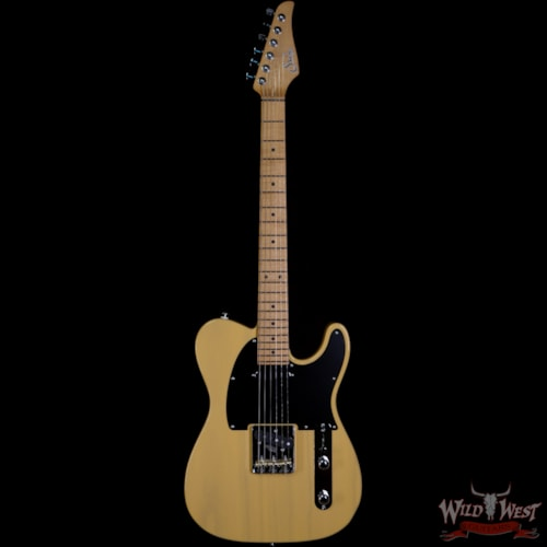 2020 Suhr Limited Edition Classic T Paulownia Trans Vintage Yellow 6.35 LBS