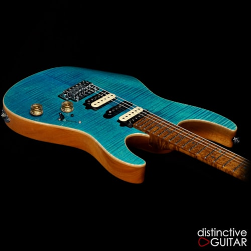 Suhr Modern Custom  Bahama Blue Flame Top