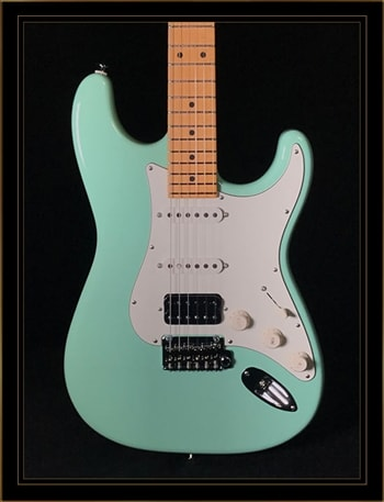 Suhr Suhr Classic S in Surf Green with HSS Pickup Configuration and Maple Fretboard