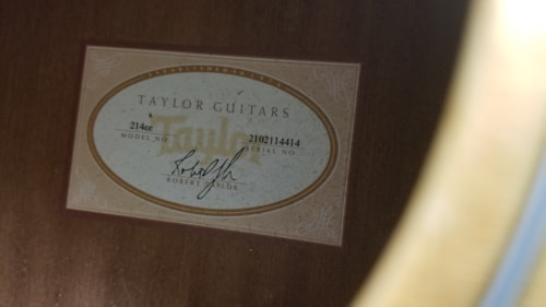 SWEET 2014 TAYLOR 214-CE CUTAWAY GRAND ORCHESTRA MAHOGANY GREAT SOUND EX++WOW