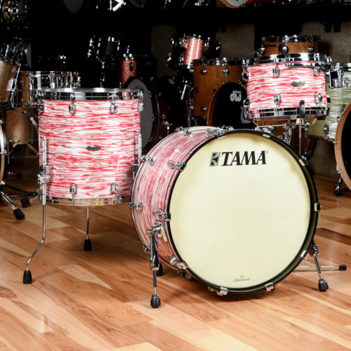 Tama Starclassic 12/16/22 3pc. Maple Drum Kit Red & White Oyster