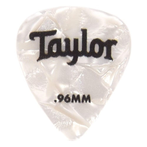 Taylor Celluloid 351 Picks White Pearl 0.96mm 12-Pack