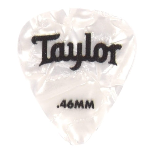 Taylor Celluloid 351 Picks White Pearl 0.46mm 12-Pack