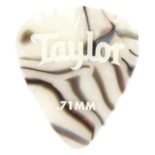 Taylor Celluloid 351 Picks Abalone 0.71mm  12-Pack