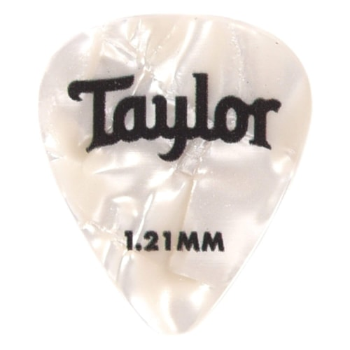 Taylor Celluloid 351 Picks White Pearl 1.21mm 12-Pack