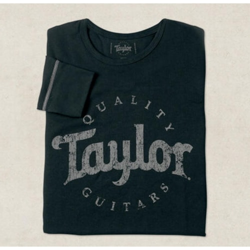 Taylor Thermal Aged Logo Medium Long Sleeve Shirt, Black/Grey