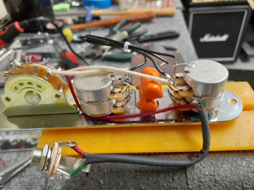 HOAGLAND CUSTOM Tele Wiring - Independent Concentric V&T 4 Each SC
