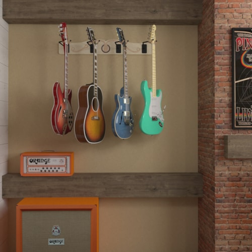 The Pro-File™ Wall Mounted 4 Guitar Hanger