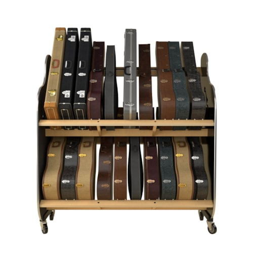 The Session-Pro™ Double-Stack Guitar Mobile Guitar Case Shelf Rack