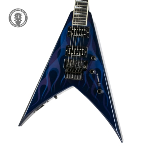 2000 Jackson King V Blue with Ghost Flames