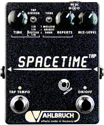 Vahlbruch FX SpaceTime Delay and Echo Pedal with Tap Tempo